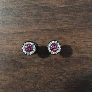 Jewelry - 6g jewel and pink zebra plugs